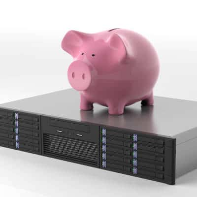 Piggy bank on a server