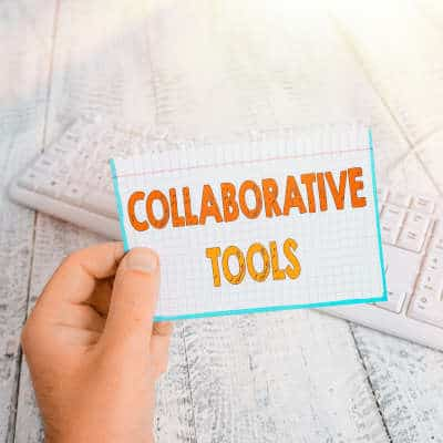 Card with text: Collaborative Tools
