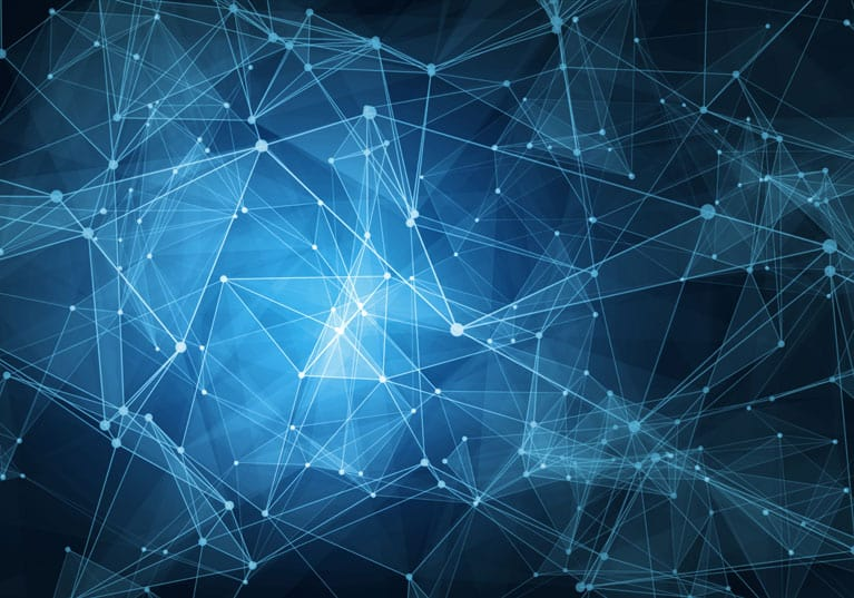 Web of Shining Digital Nodes